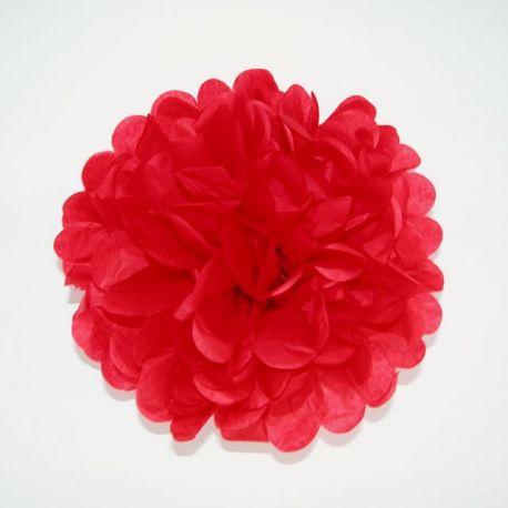 Papierový pompón červený 25cm