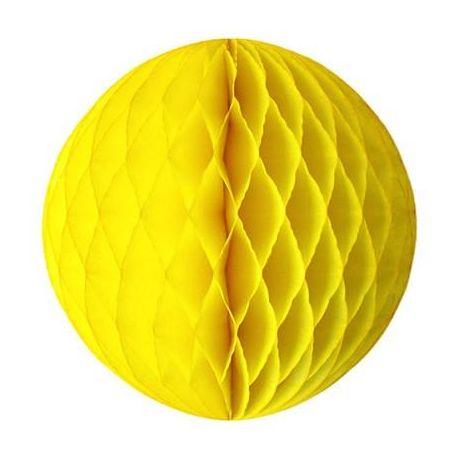 Honeycomb guľa žlá 20cm