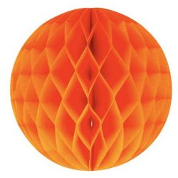 Honeycomb guľa oranžová 25cm