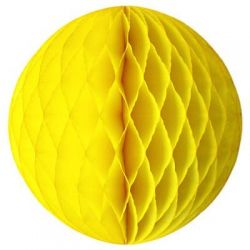 Honeycomb guľa žltá 25cm