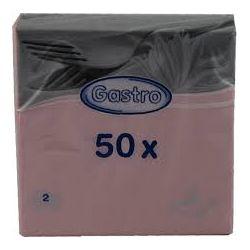 Obrúsky 2-vrstvové ružové, 33cm x 33cm. 50ks
