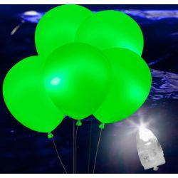 Svietiace Led balóny zelené 5ks