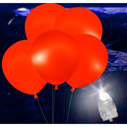Svietiace Led balóny červené 5ks