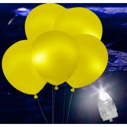 Svietiace Led balóny žlté 5ks