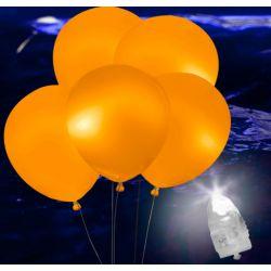Svietiace Led balóny oranžové 5ks