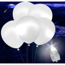 Svietiace Led balóny biele 5ks