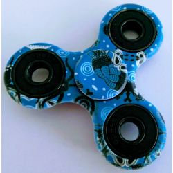 Fidget Spinner modrý s obrázkami