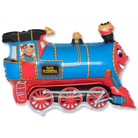 Balón Vlak modrý