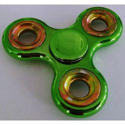 Fidget Spinner chrómový zelený