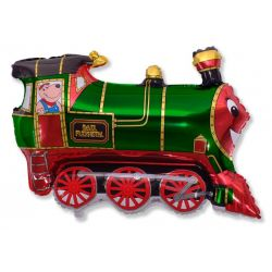 Balón Vlak zelený