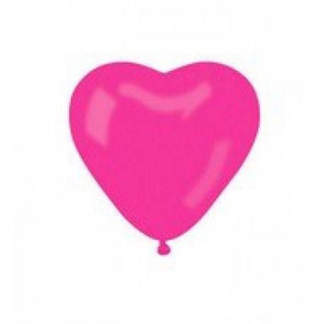 Balón Srdce ružové 30 cm