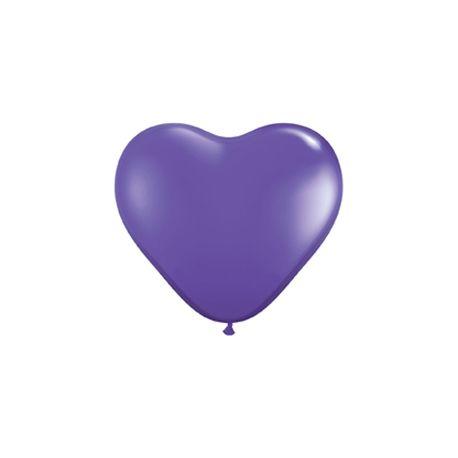 Balón Srdce fialové 30 cm