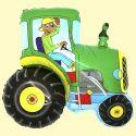 Balón Traktor so psom