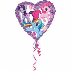Fóliový balón srdce My little pony 43cm