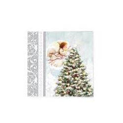 Vianočné servítky Anjelik a strom