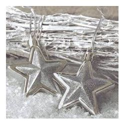 Vianočné servítky zlaté hviezdy