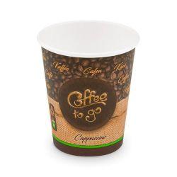 """Papierový pohár """"Coffee to go"""" 280 ml (PAP/PE) Ø 80 mm (50ks)"""