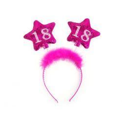 Čelenka ružová 18. narodeniny