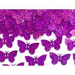 Konfety ružové motýle