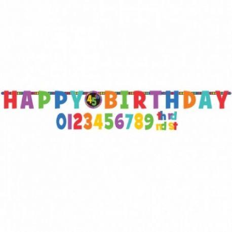 Závesná dekorácia Happy birthday