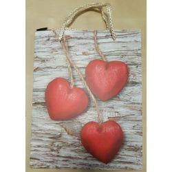 Darčeková taška Tri srdcia