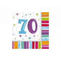 Obrúsky 70. narodeniny, troj-vrstvové, 33 x 33 cm