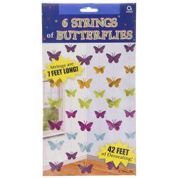 Girlanda farebné motýle