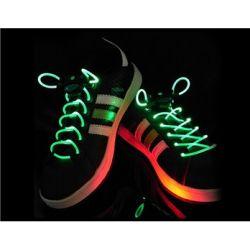 Svietiace šnúrky do topánok zelené