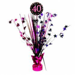 Dekorácia na stôl 40. narodeniny