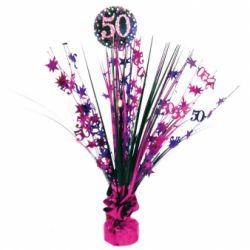 Dekorácia na stôl 50. narodeniny