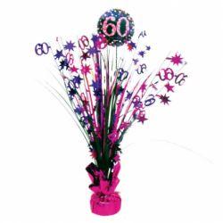 Dekorácia na stôl 60. narodeniny
