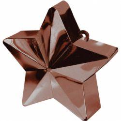 Závažie na balóny hviezda čokoládová