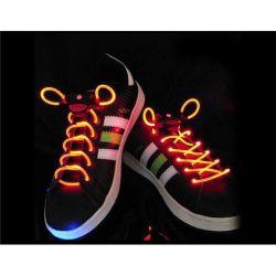 Svietiace šnúrky do topánok oranžové