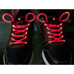 Svietiace šnúrky do topánok červené