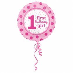 Fóliový balón 1st birthday girl