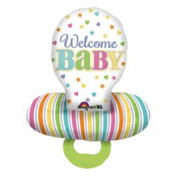 Fóliový balón cumlík welcome baby 55 x 73 cm