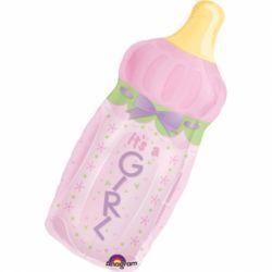 Fóliový balón fľaška dievča