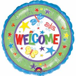 Fóliový balón welcome