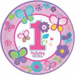 Taniere 1st birthday dievča 23cm (8ks)