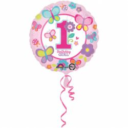 Fóliový balón 1st birthday 43cm