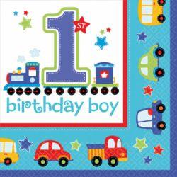 Servítky 1st birthday chlapec 16ks