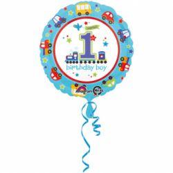 Fóliový balón 1st birthday chlapec 43cm