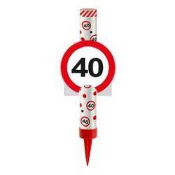 Fontána na tortu 40. narodeniny