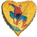 Balón Spiderman - zlatý