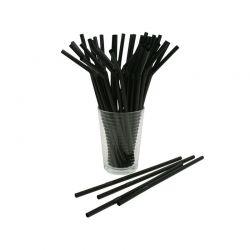 Slamky flexibilné čierne 24cm (1000ks)
