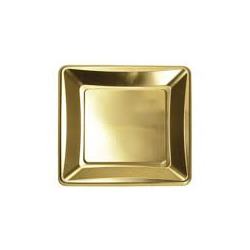 Zlatá tácka 23x23 cm