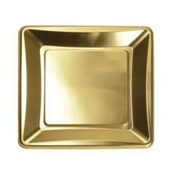 Zlatá tácka 27x27 cm