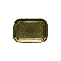 Lepenkové tácky zlaté 23,1x33,2 cm
