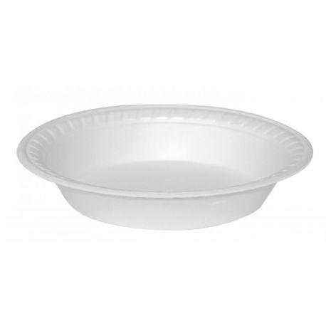 Termo-tanier hlboký biely (EPS) 600ml 22,5cm (100ks)
