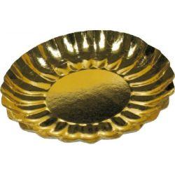 Papierový tanier okrúhly zlatý (PAP/ALU) 21cm (25ks)